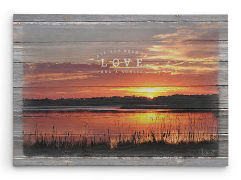 All-you-need-is-love-and-a-sunset-canvas-print