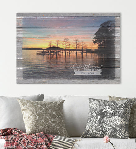 Lake Murvaul Custom Canvas Print by Jennifer Ditterich Designs