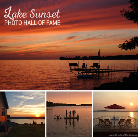 Lake Sunset Photos Hall of Fame by Jennifer Ditterich Designs