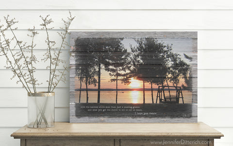 Leech Lake Custom Canvas Framing by Jennifer Ditterich Designs