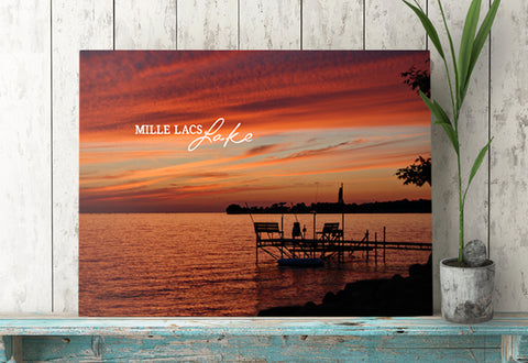 Mille Lacs Lake Personalized Canvas Print by Jennifer Ditterich Designs