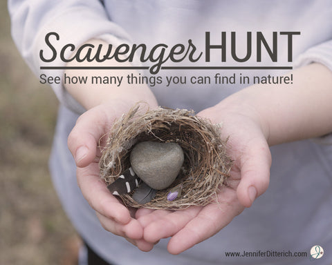 Free Nature Scavenger Hunt Printable by Jennifer Ditterich Designs