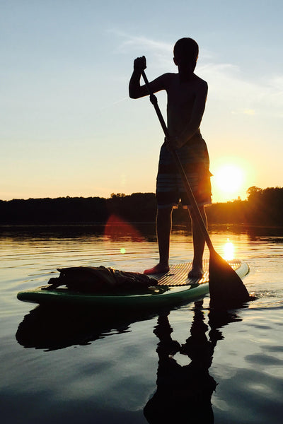 Paddleboarding on the lake