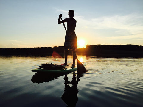 Paddleboarding on Lake