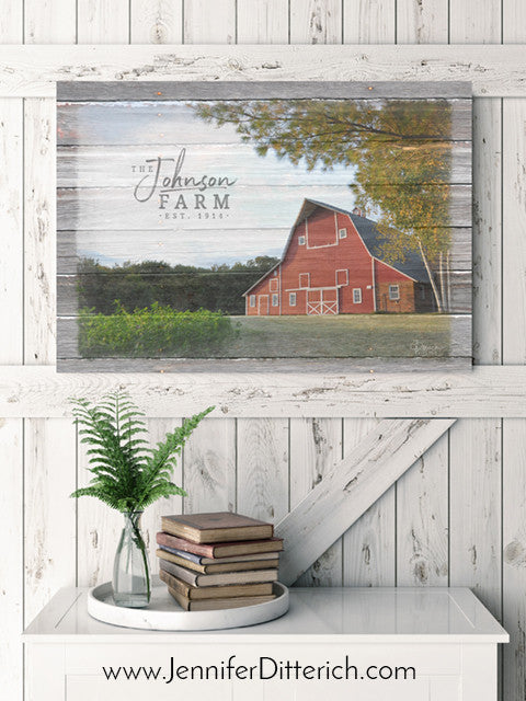 Personalized Farm Name Canvas Print