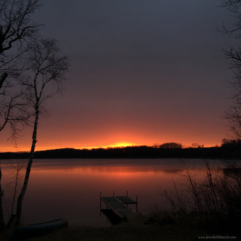 Sunset over the lake by Jennifer Ditterich