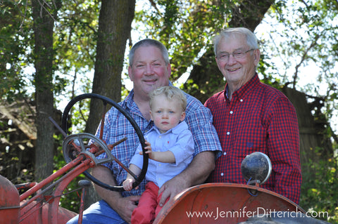 Three Generations on a Farm Tractor by Jennifer Ditterich
