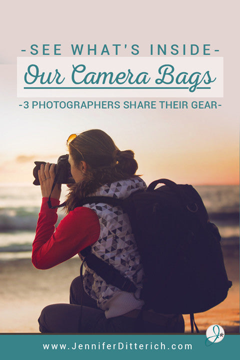 Whats In Our Camera Bags by Jennifer Ditterich Designs