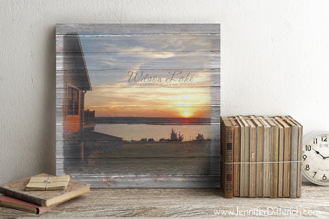 Personalized Lake Canvas Print Gift Idea by Jennifer Ditterich Designs