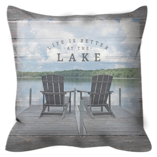 Life is Better at the Lake Outdoor Pillow