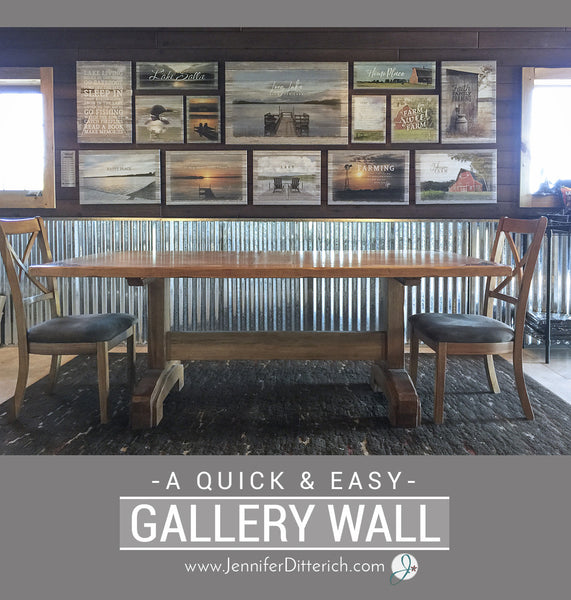 Gallery Wall Design and Printed Guide