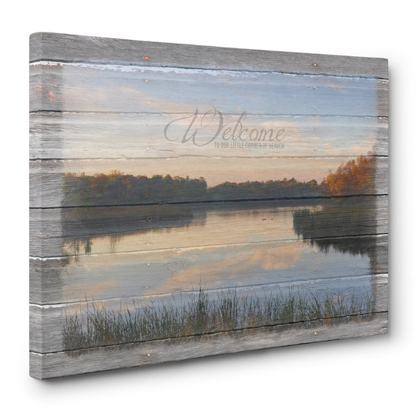 Welcome to Our Little Corner of Heaven Fall Canvas Picture
