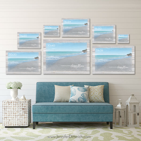 Happiness Comes in Waves - Beach Wall Art