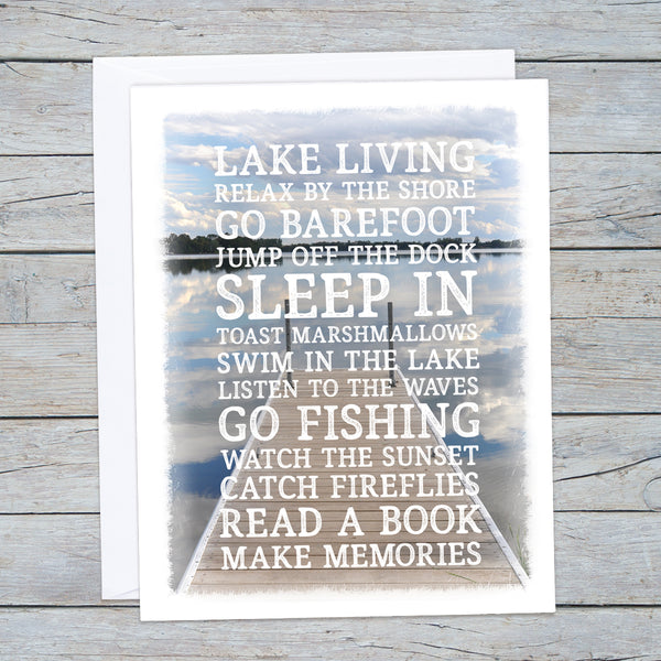 Lake Rules Note Cards
