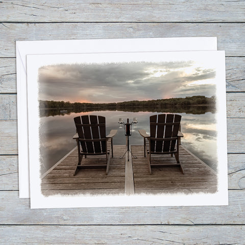 Relaxing at the Lake Note Card Set