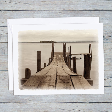 Old Wooden Dock Note Cards
