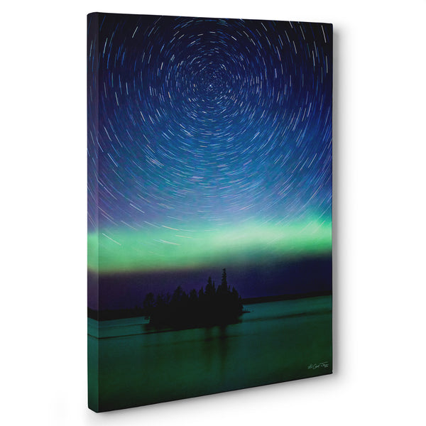 Boulder Dam Lights Canvas Print