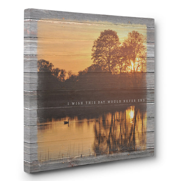 I Wish This Day Would Never End - Lake Canvas Print