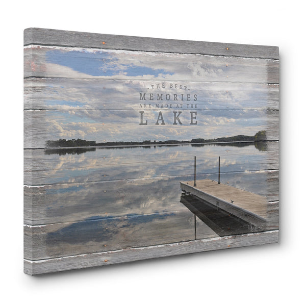 The Best Memories Are Made At The Lake - Canvas Print