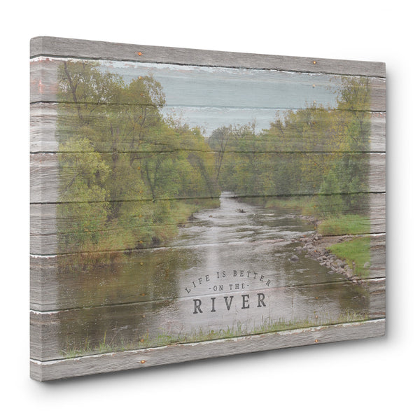 Life Is Better On The River - Canvas Print