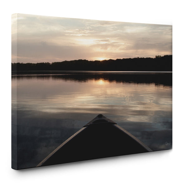 Canoe at Sunset Canvas Print