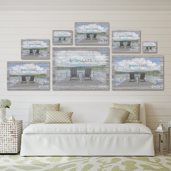 Waiting for Summer - Winter Lake with Dock Canvas Print