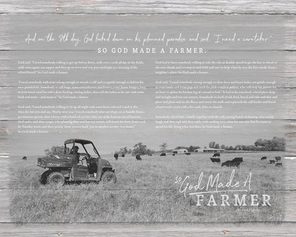 16x20 Custom So God Made a Farmer print for Chelsi