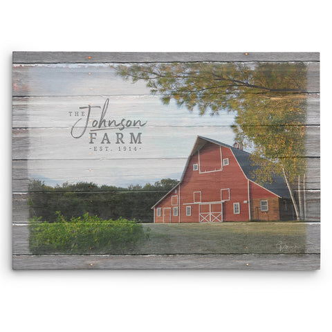 Personalized Farm Name Sign - Canvas Print
