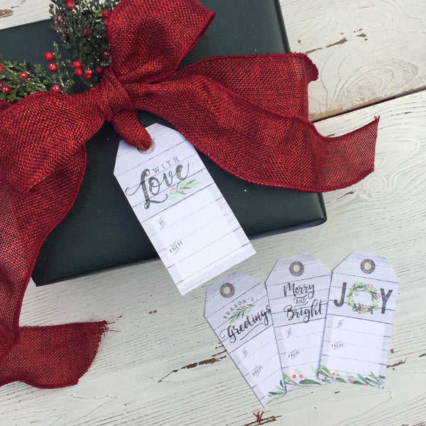 Christmas Printable Gift Tags - Set of 4