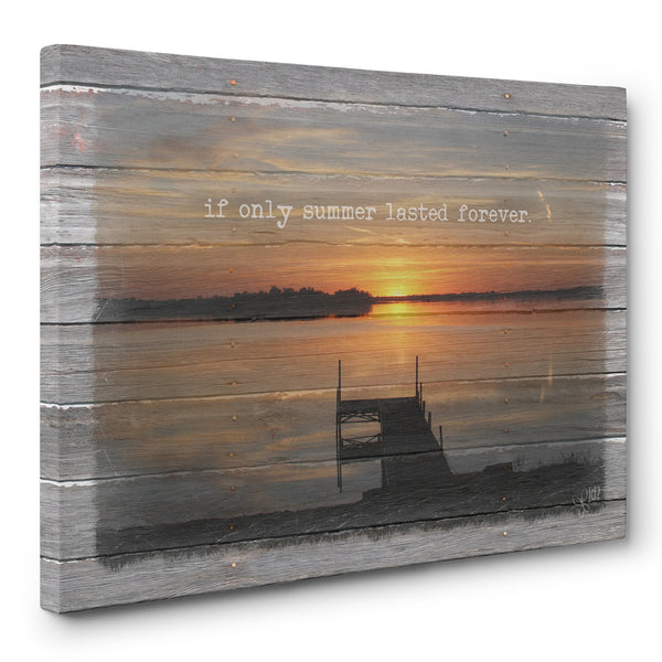If Only Summer Lasted Forever Canvas Print
