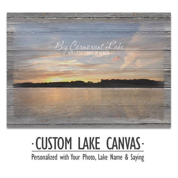 Personalized Lake Canvas