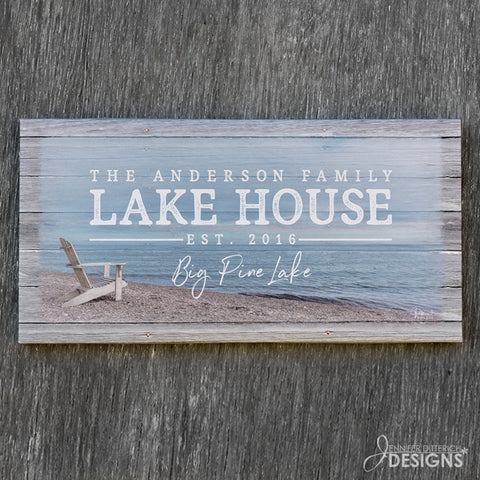 Personalized Lake House Print