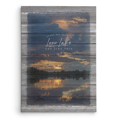 Every Day Should End Like This - Personalized Lake Name Canvas Print