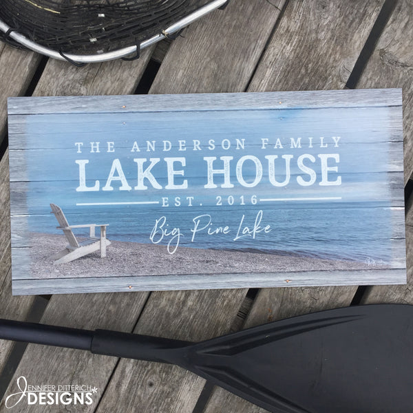 Outdoor Lake House Sign