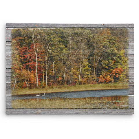 Fall in Love with Autumn Canvas Print