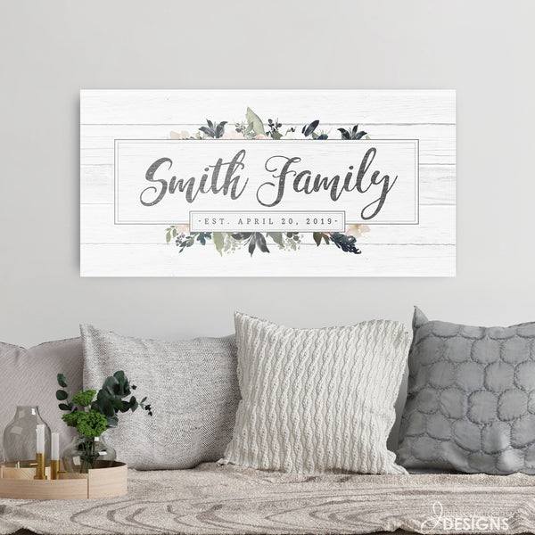Family Name Sign with Established Date
