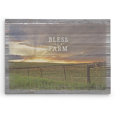 Bless Our Farm - Canvas Print