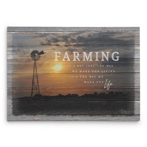 Farming Lifestyle Canvas Print