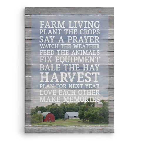 Farm Rules Canvas Print