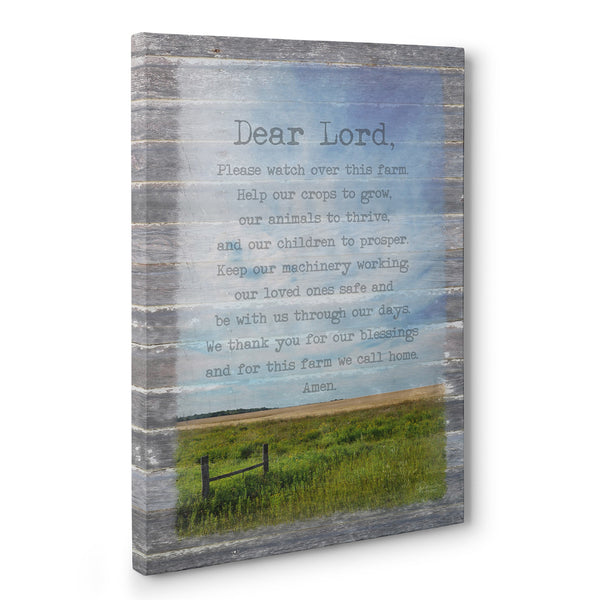 Farmer's Prayer Canvas Wall Art