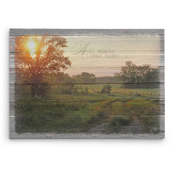 All Roads Lead Home Canvas Print