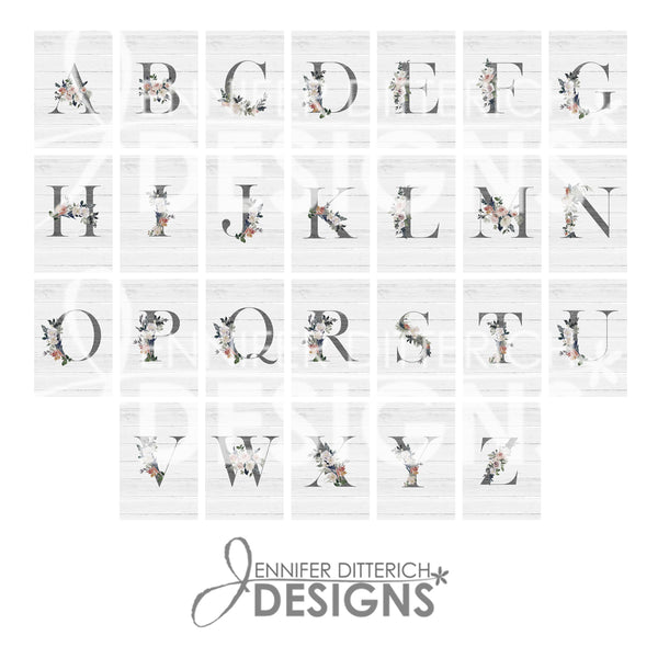 Monogram Note Card Set with Custom Wording