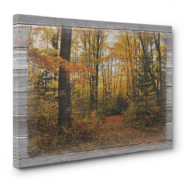 Forbidden Trail Autumn Canvas Print