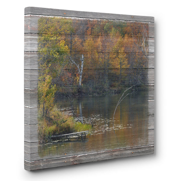 Forgotten Dock Fall Canvas Print