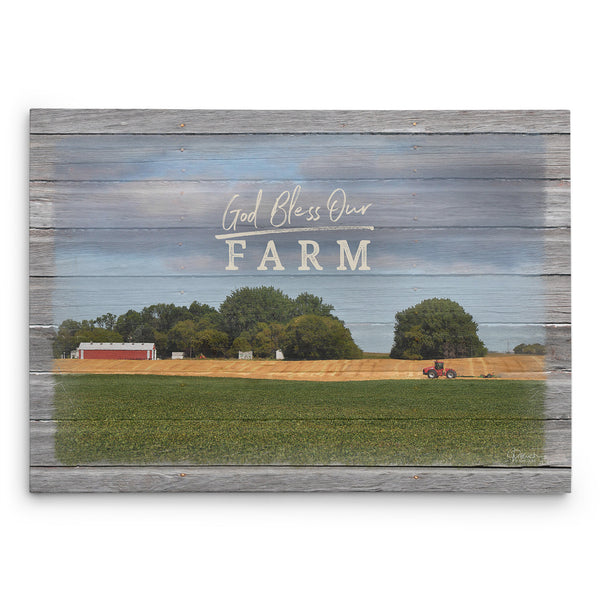 God Bless Our Farm Canvas Print
