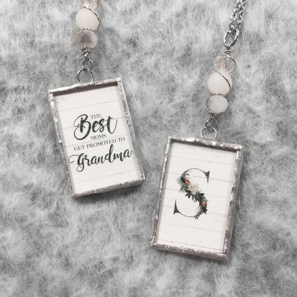 Monogram Necklace - Gift for Grandma