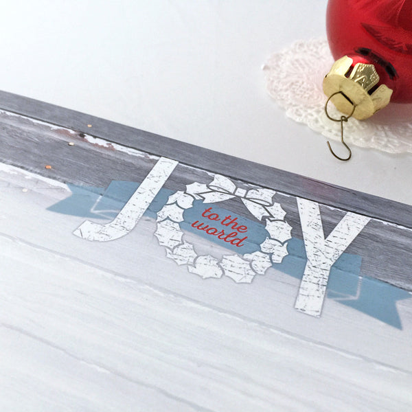 Joy to the World Holiday Printable Stationery - Instant Download