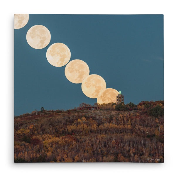 Hunter's Moon Descendent at Enger Tower Canvas Print