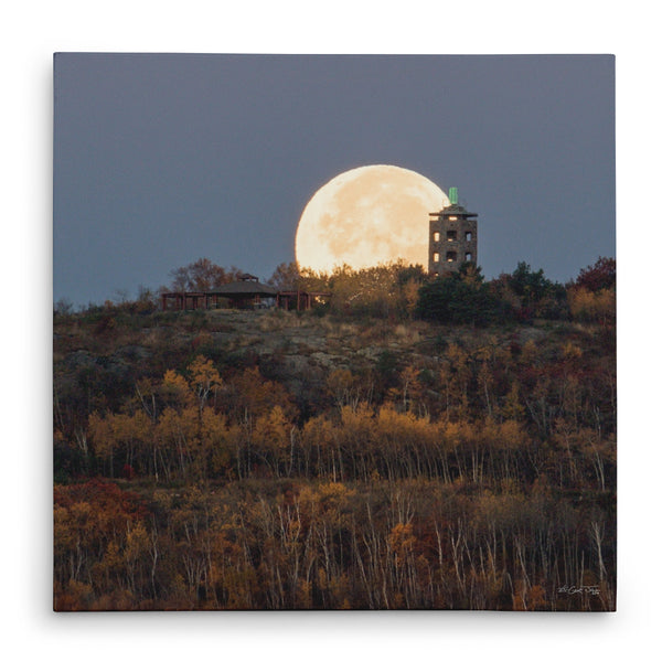 Hunter's Moon at Enger Tower Canvas Print