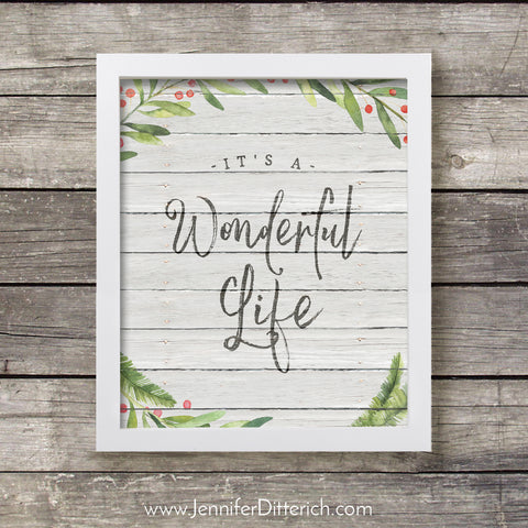 It's a Wonderful Life Christmas Printable